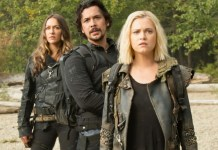 Cenas do elenco da série 'The 100'