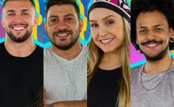 Arthur, Caio, Carla e João Luiz estão no paredão falso do Big Brother Brasil 21