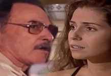 Paschoal (Leonardo Villar) e Capitu (Giovanna Antonelli) em 'Laços de Família' (Globo)