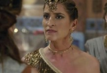 Maria Joana interpretando Enlila em 'Gênesis' (Record)