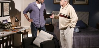 Renato (Guilherme Winter) e Giancarlo (Mauro Mendonça) em 'Ti-ti-ti' (Globo)