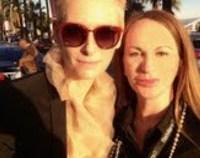 Delia Antal  a petrecut cu actrita Tilda Swinton la Grand Prix-ul de la Monaco