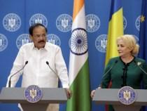 Întrevederea premierului Viorica Dăncilă cu vicepreședintele Republicii India, Venkaiah Naidu,  urmată de semnarea Memorandumului de Înțelegere între Guvernul României și Guvernul Republicii India de cooperare în domeniul turismului
