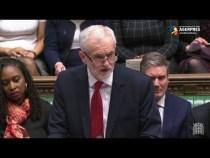Jeremy Corbyn, despre faptul că opoziţia laburistă introduce moţiune de cenzură