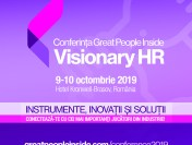 Conferința Great People Inside Visionary HR, 9-10 octombrie 2019, Hotel Kronwell, Brașov România