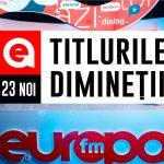 23 noiembrie 2020: Titlurile dimineții, la Europa FM