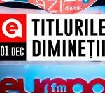01 DECEMBRIE 2020: Titlurile dimineții, la Europa FM
