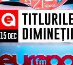 15 decembrie 2020: Titlurile dimineții, la Europa FM