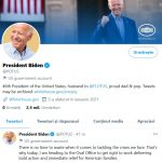 Joe Biden a făcut prima postare pe Twitter în calitate de preşedinte