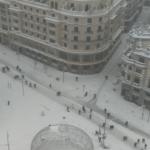 Madridul a fost acoperit de zăpadă | VIDEO
