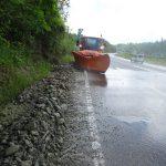 Braşov: Trafic îngreunat de aluviuni