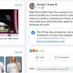 Facebook elimină mesajul video transmis de Donald Trump