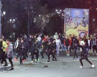 Arestări după violențele de luni noapte, din Capitală