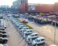 Protest al angajaților companiei care se ocupă cu deratizarea și igienizarea spațiilor verzi din Capitală