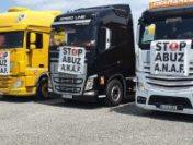 Protest, în coloană, la Arad: Peste 300 de camioane au mers cu viteză redusă pe mai mulți km