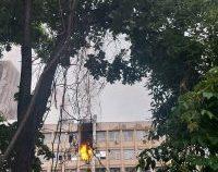 Incendiu la Spitalul de Copii Sfânta Maria din Iași | VIDEO