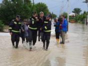 Inundații în comuna Biliești, Vrancea