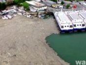 """""""Mucilagiul marin"""" din Marea Marmara s-a extins în Marea Neagră. Substanța vâscoasă acoperă ca o pătură albă suprafața apei mării"""