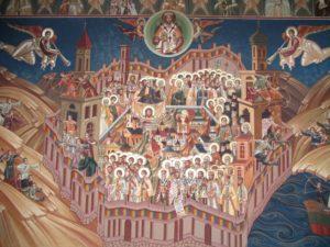 romania ortodoxa - sfinti romani fresca manastirea Petru Voda