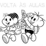 Desenhos Turma da Mônica volta às aulas para colorir