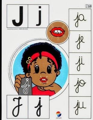 Alfabeto colorido j