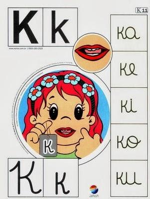 Alfabeto colorido k