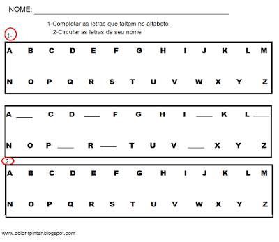 Atividades de alfabetizacao e letramento