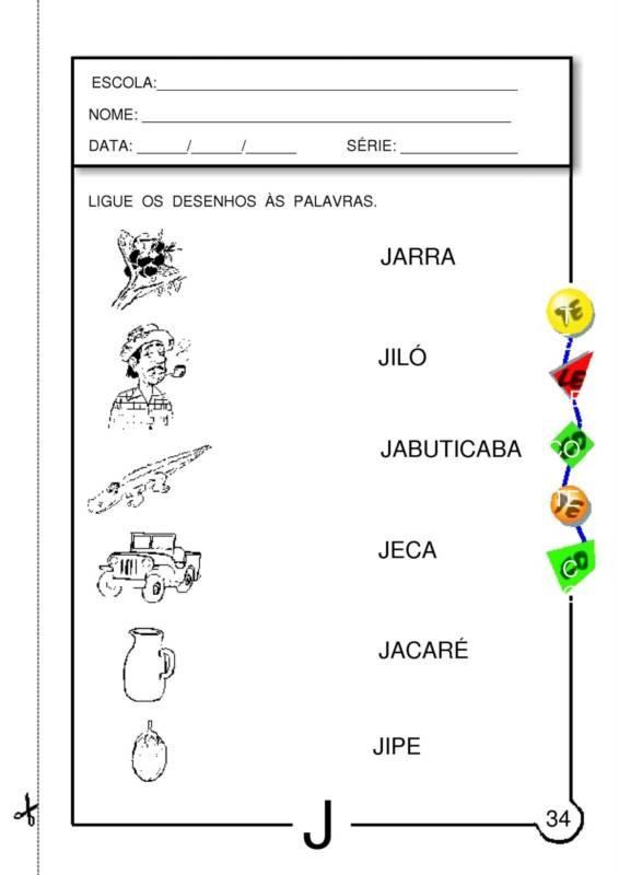 Preferência ATIVIDADES COM LETRA J PRONTAS PARA IMPRIMIR QR36
