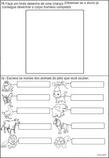 Provas 1° ano Testes avaliações   atividades alfabetização  imprimir (7)