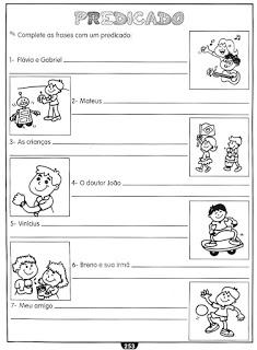 Sujeito Predicado Atividades Ling Portuguesa Imprimir  (2)