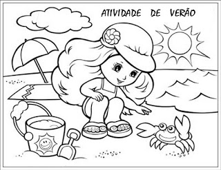 Verão Desenhos Atividades praia férias brincadeiras colorir Imprimir (47)