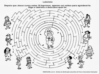 atividades labirinto jesus cristo