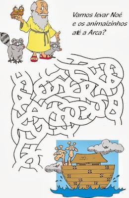atividades labirinto noe