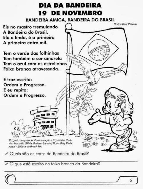 Atividade dia da bandeira 3° ano