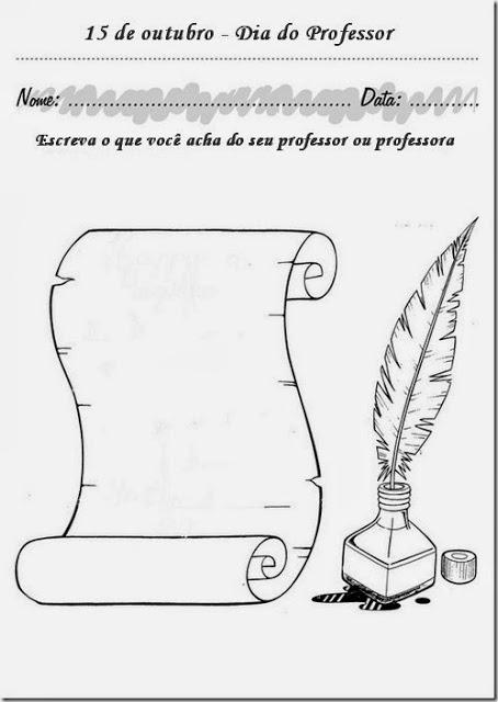 Atividade dia do professor imprimir