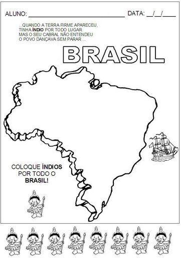 Mapa do Brasil - Índios - Exercícios