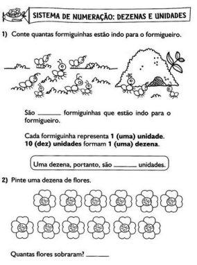 Sistema de numeração - dezenas e unidades