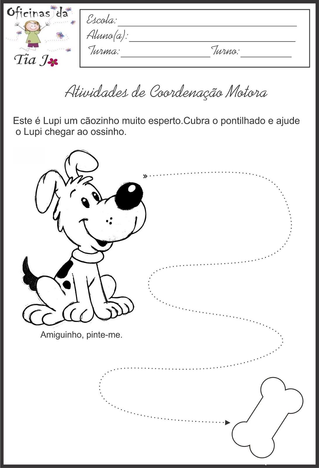 Well-known ATIVIDADES DE COORDENAÇÃO MOTORA - Atividades Pedagógicas CK57