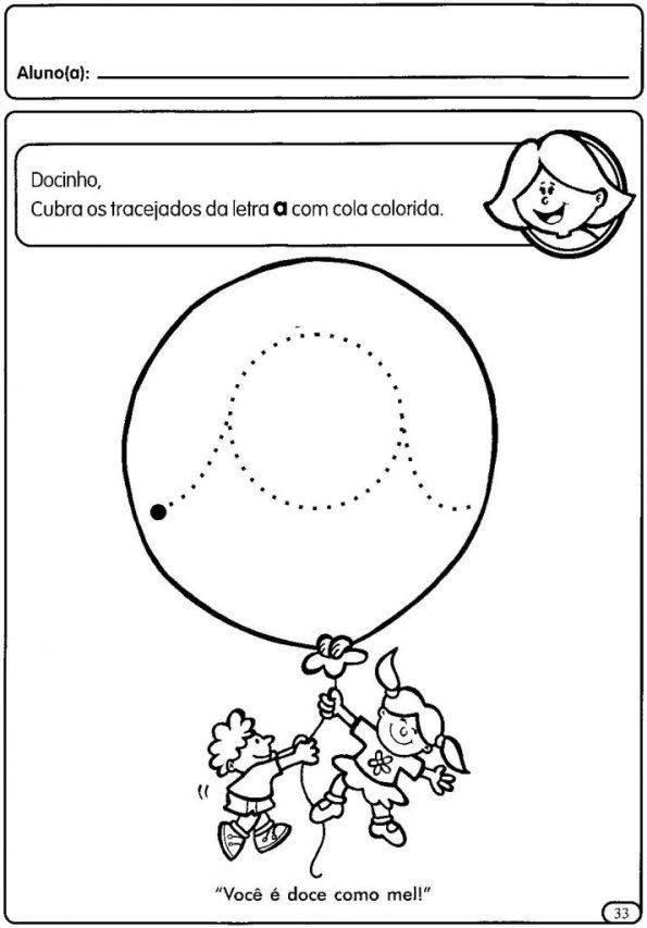 ATIVIDADES COM VOGAIS CURSIVAS - LETRA A