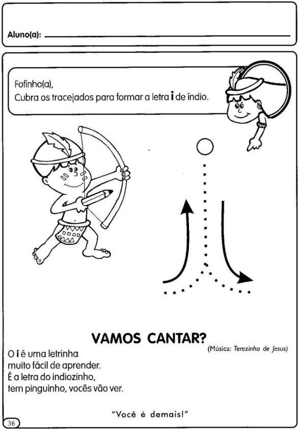 ATIVIDADES COM VOGAIS CURSIVAS - LETRA I