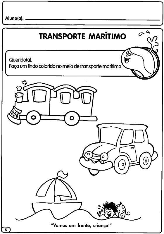 Atividades Sobre o Trânsito para Educação Infantil