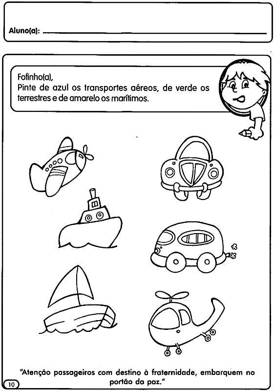 brincadeiras Atividades Sobre o Trânsito para Educação Infantil