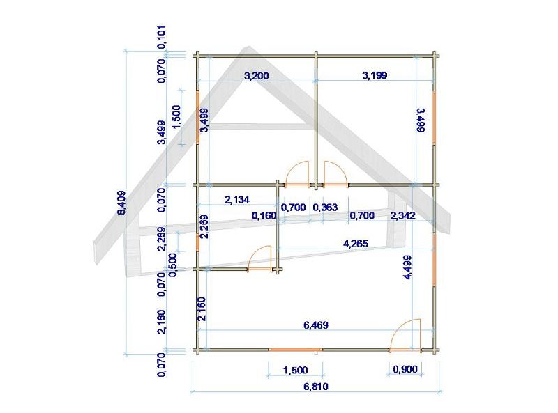 maison avec deux chambres 8,4x 6,8 - AtiWood