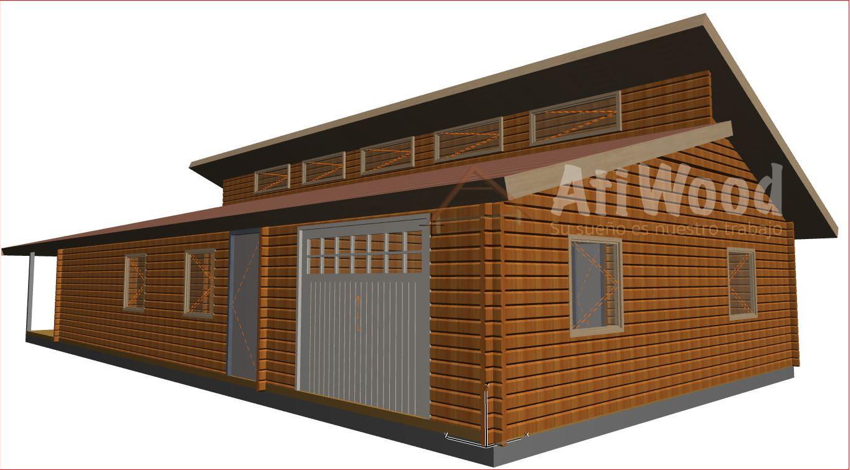 casa de madera 135,2 m2 - AtiWood