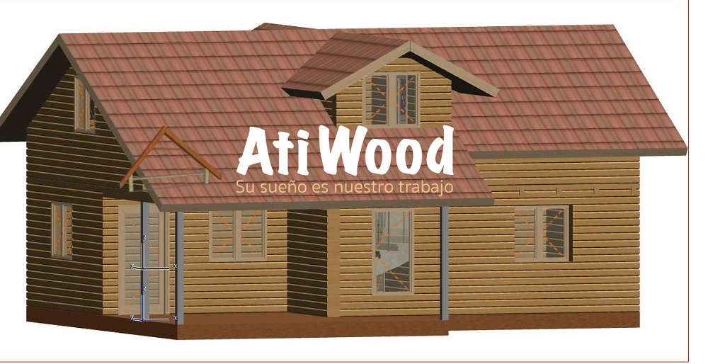 Casa de madera prefabricada 123m2 planta alta muro ligera - Casa madera prefabricada ...
