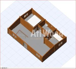 casa de madera 55m2-atiwood