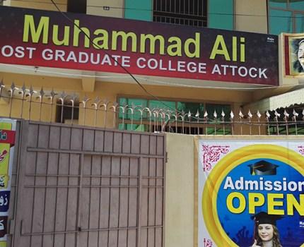 MUHAMMAD ALI POST GRADUATE COLLEGE ATTOCK