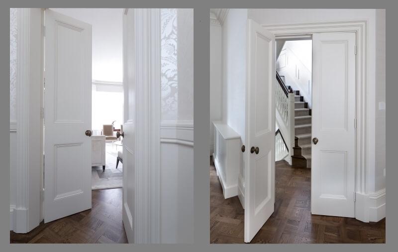 Victorian two paneled doors
