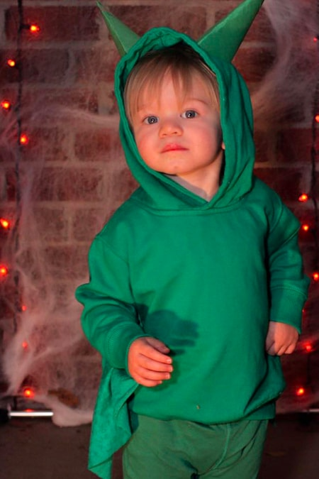 No-Sew DIY Dragon Halloween Costume