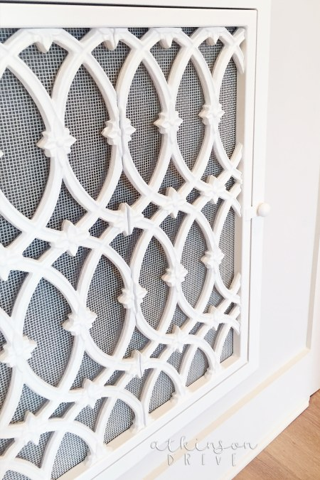 Decorative ironwork to cover air returns